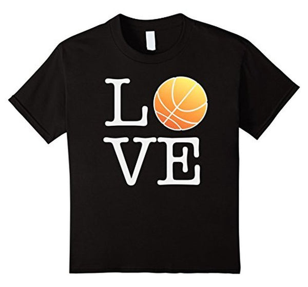 Love Basketball Ball T-shirt Black / 3XL T-Shirt BelDisegno