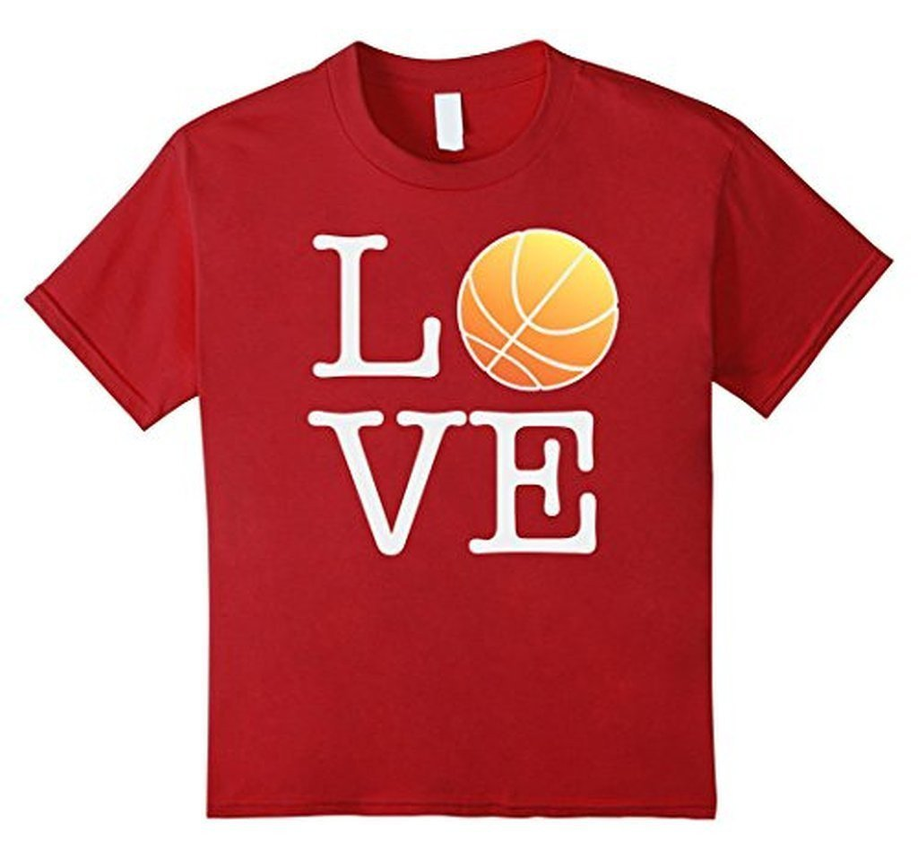 Love Basketball Ball T-shirt Cranberry / 3XL T-Shirt BelDisegno