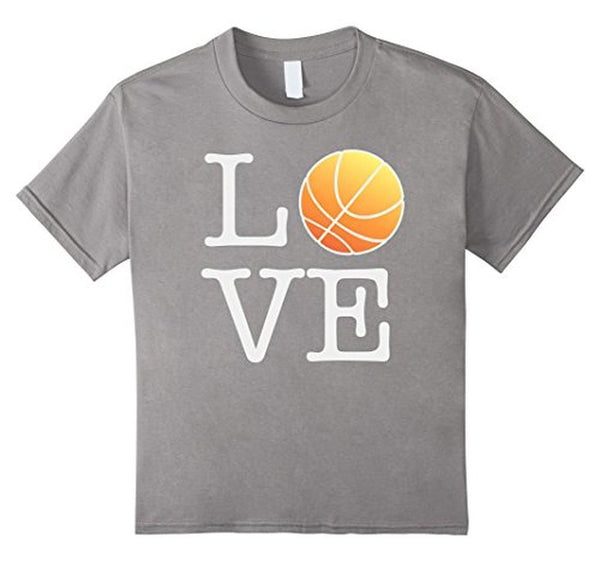 Love Basketball Ball T-shirt Heather Grey / 3XL T-Shirt BelDisegno