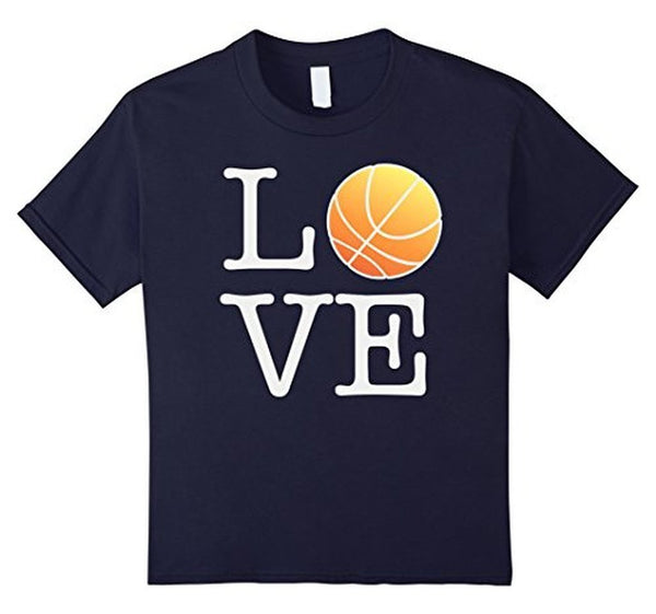 Love Basketball Ball T-shirt Navy / 3XL T-Shirt BelDisegno