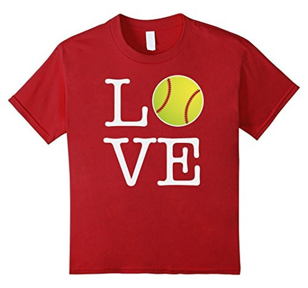 Love Softball Ball T-shirt Cranberry / 3XL T-Shirt BelDisegno