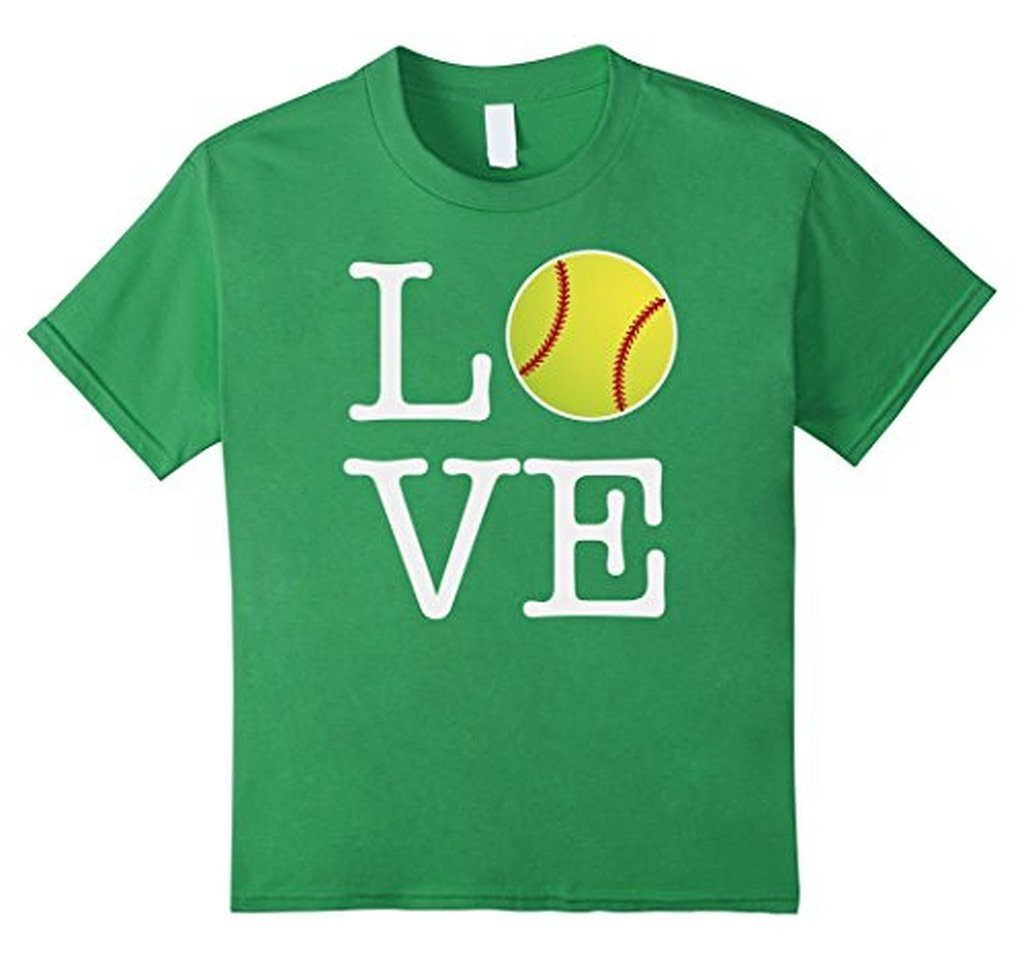 Love Softball Ball T-shirt Grass / 3XL T-Shirt BelDisegno