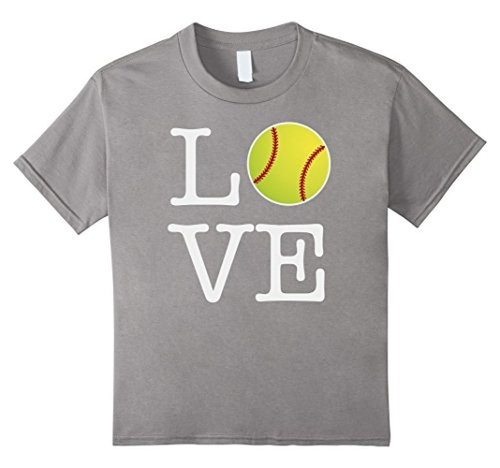 Love Softball Ball T-shirt Heather Grey / 3XL T-Shirt BelDisegno