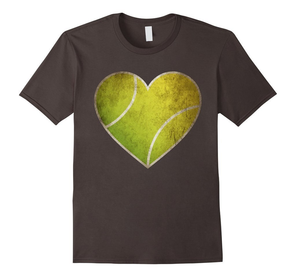 Love Tennis Heart Ball T-shirt Asphalt / 3XL T-Shirt BelDisegno