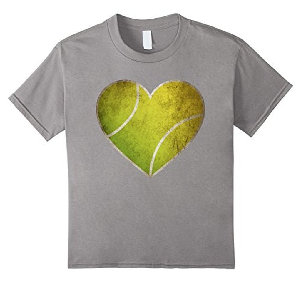 Love Tennis Heart Ball T-shirt Heather Grey / 3XL T-Shirt BelDisegno