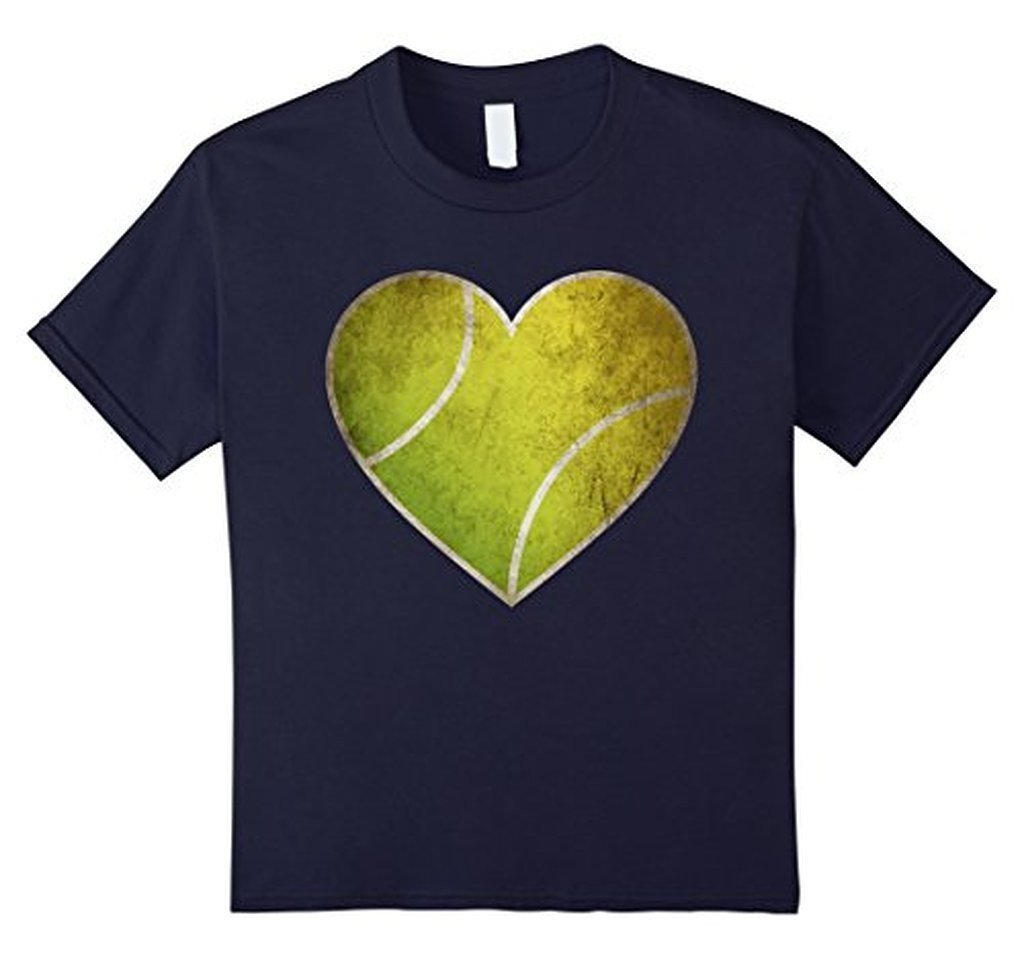 Love Tennis Heart Ball T-shirt Navy / 3XL T-Shirt BelDisegno