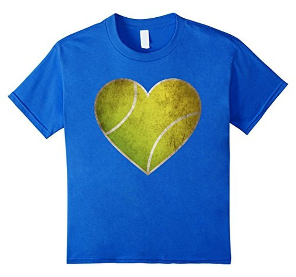 Love Tennis Heart Ball T-shirt Royal Blue / 3XL T-Shirt BelDisegno