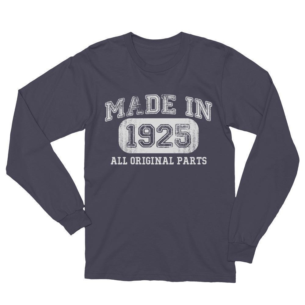 Made in 1925 T-shirt gift for 93 year old Long Sleeve Shirt Asphalt / 2XL T-Shirt BelDisegno
