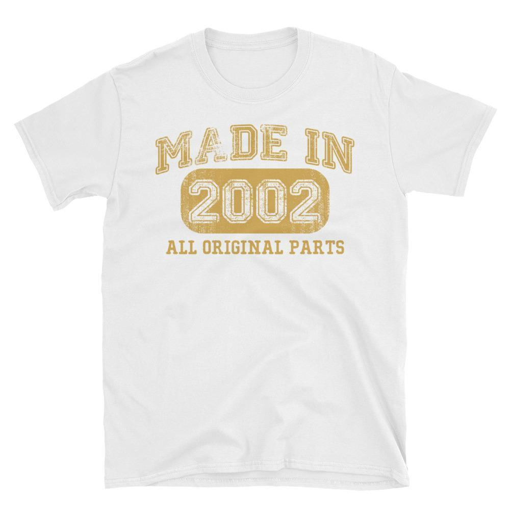 Made in 2002 all original parts TShirt gift ideas for 16 year old women men-T-Shirt-BelDisegno-White-S-BelDisegno