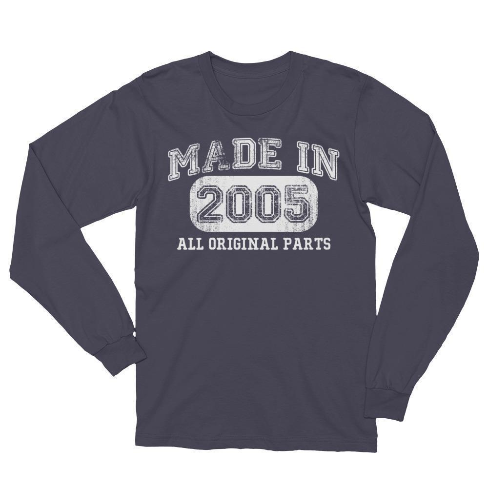 Made in 2005 TShirt gift for 13 year old Long Sleeve Shirt-T-Shirt-BelDisegno-Asphalt-S-BelDisegno