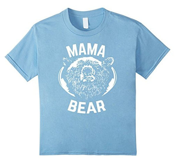 MAMA BEAR MOM Bear t for all Mother Day Gift TShirt-T-Shirt-BelDisegno-Baby Blue-S-BelDisegno