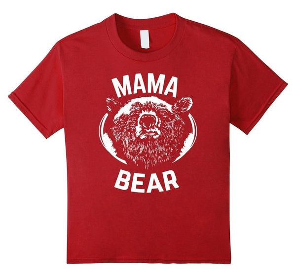 MAMA BEAR MOM Bear t for all Mother Day Gift TShirt-T-Shirt-BelDisegno-Cranberry-S-BelDisegno