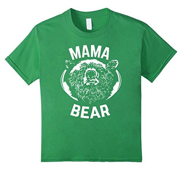 MAMA BEAR MOM Bear t for all Mother Day Gift TShirt-T-Shirt-BelDisegno-Grass-S-BelDisegno