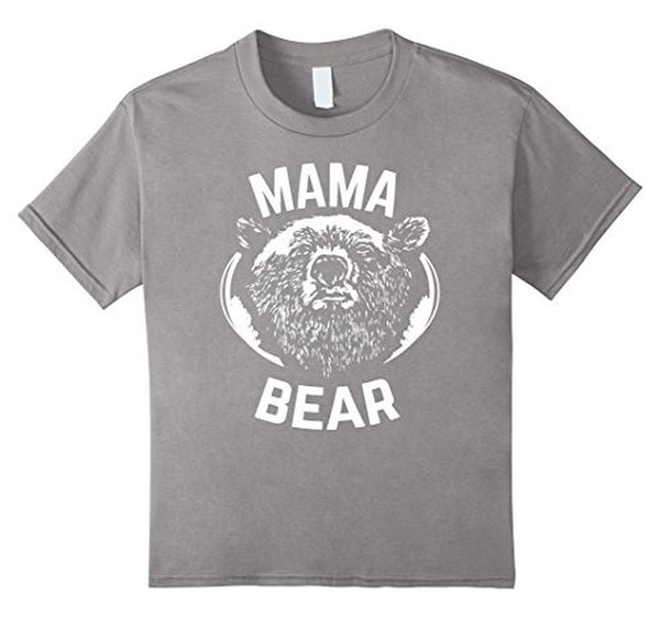 MAMA BEAR MOM Bear t for all Mother Day Gift TShirt-T-Shirt-BelDisegno-Heather Grey-S-BelDisegno