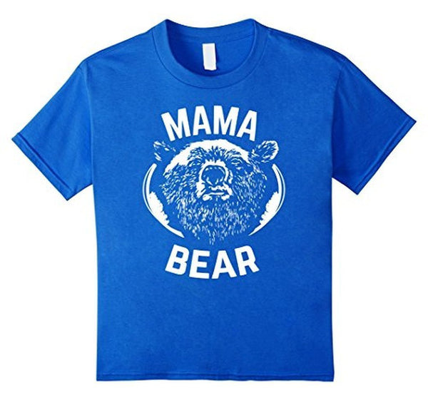 MAMA BEAR MOM Bear t for all Mother Day Gift TShirt-T-Shirt-BelDisegno-Royal Blue-S-BelDisegno