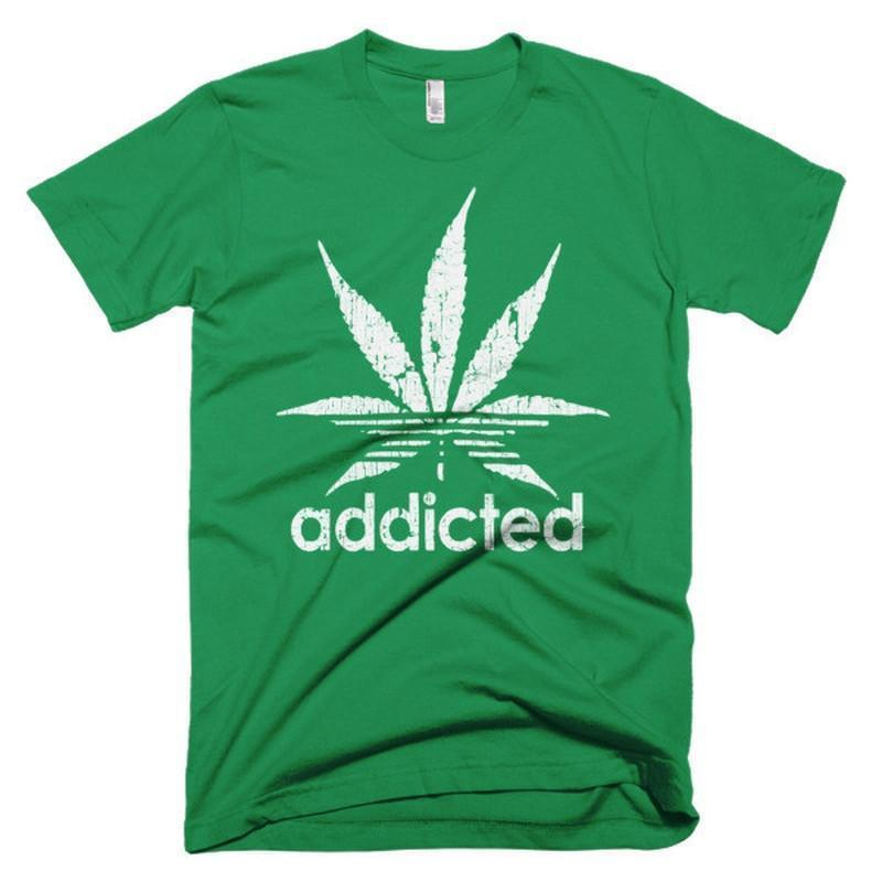 Addicted Green Leaf Weed Day T-shirt