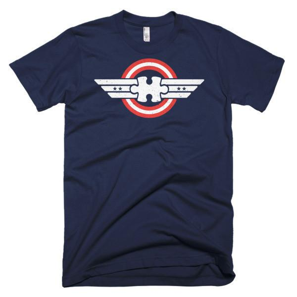 Autism Awareness Captain Autism Superhero T-shirt Color: Black, Asphalt, Navy, Light BlueSize: S, M, L, XL, 2XL, XS, 3XL