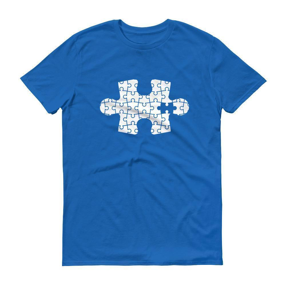 Autism Puzzle T-shirt Color: Black, Smoke, Navy, Royal Blue, Independence RedSize: S, M, L, XL, 2XL, XS, 3XL