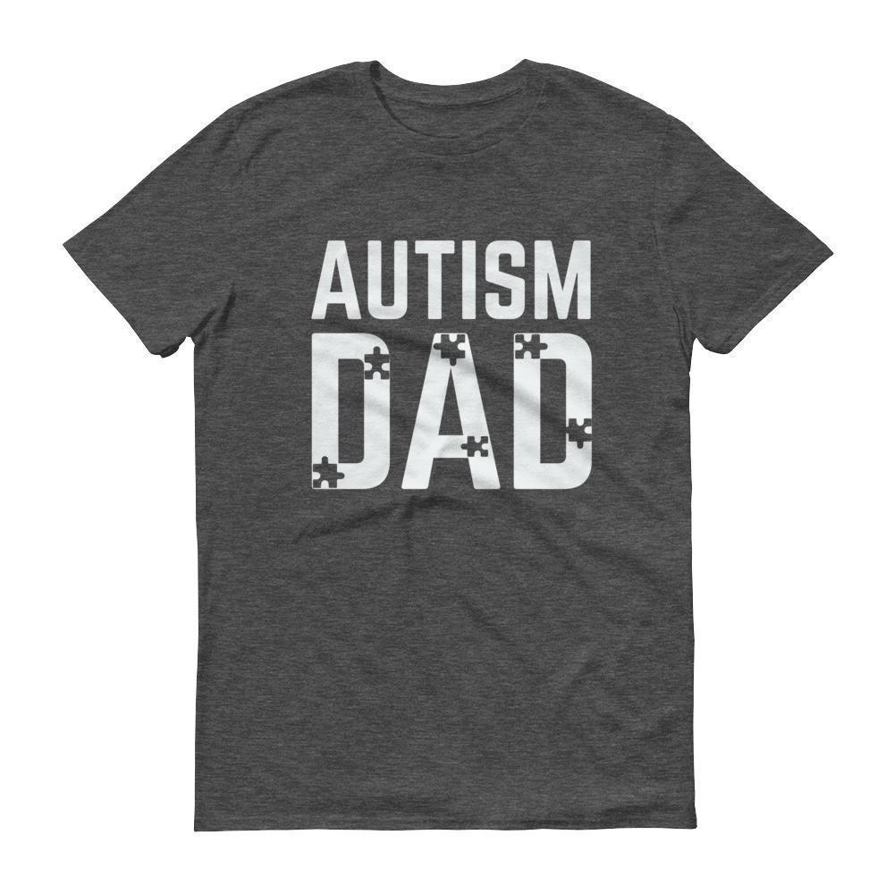 Autism Dad Autism Awareness Day for Gift T-shirt Color: Black, Smoke, Heather Dark Grey, NavySize: S, M, L, XL, 2XL, 3XL