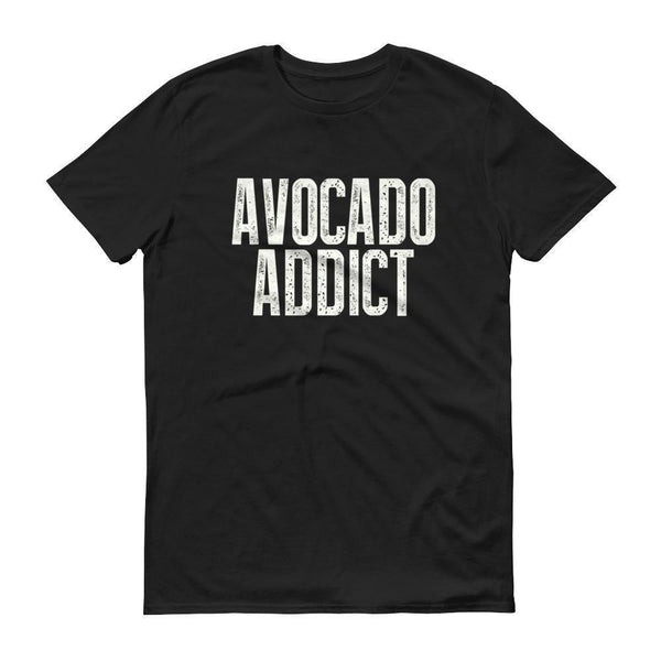 Men's Avocado Addict tshirt-T-Shirt-BelDisegno-Black-S-BelDisegno