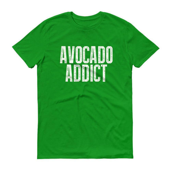 Men's Avocado Addict tshirt-T-Shirt-BelDisegno-Green Apple-S-BelDisegno