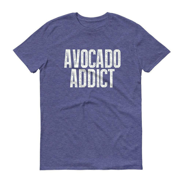 Men's Avocado Addict tshirt-T-Shirt-BelDisegno-Heather Blue-S-BelDisegno