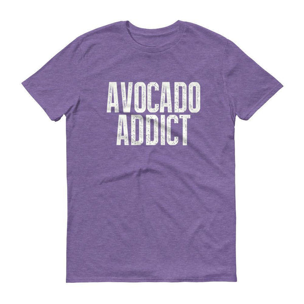 Men's Avocado Addict tshirt-T-Shirt-BelDisegno-Heather Purple-S-BelDisegno