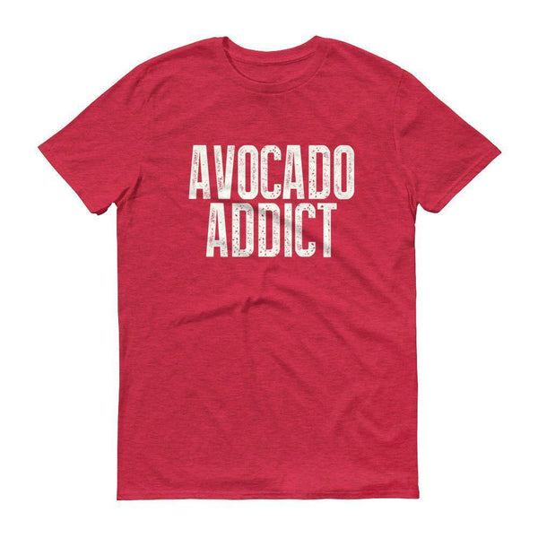 Men's Avocado Addict tshirt-T-Shirt-BelDisegno-Heather Red-S-BelDisegno