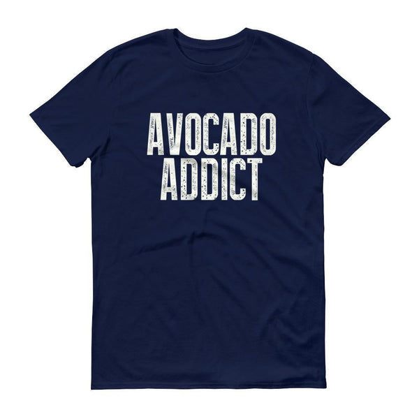 Men's Avocado Addict tshirt-T-Shirt-BelDisegno-Navy-S-BelDisegno