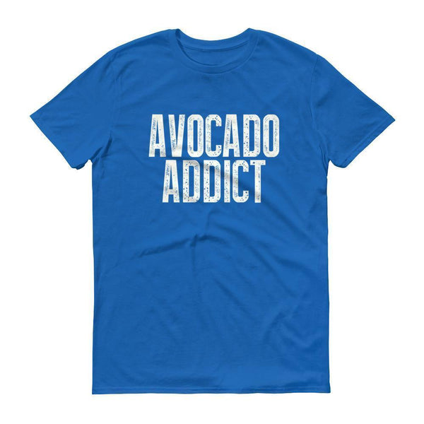 Men's Avocado Addict tshirt-T-Shirt-BelDisegno-Royal Blue-S-BelDisegno