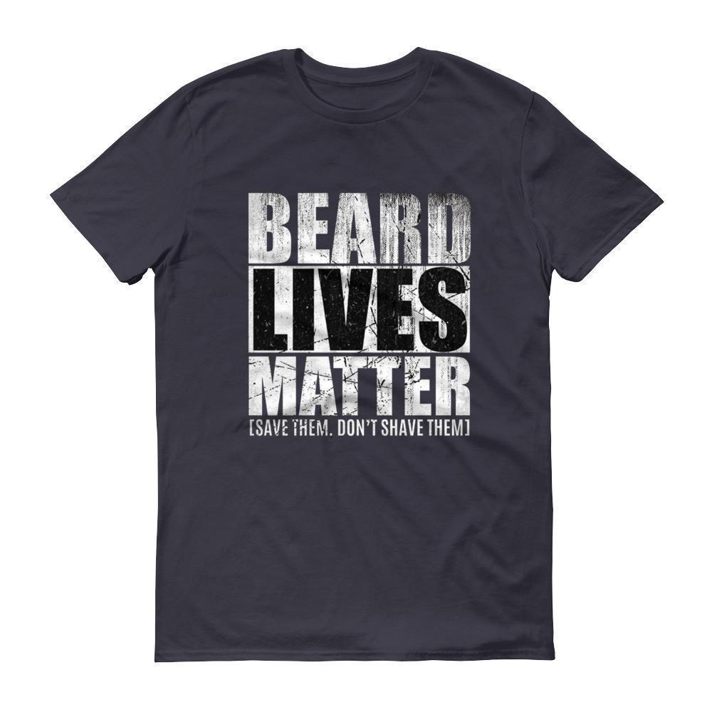 Beard Lives Matter T-shirt Beard growth shirt Color: NavySize: S