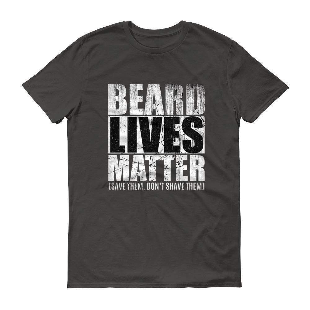 Beard Lives Matter T-shirt Beard growth shirt Color: SmokeSize: S