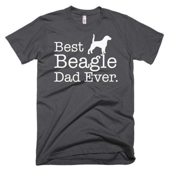 Men's Best Beagle Dad Ever Dog Lover Gift TShirt-T-Shirt-BelDisegno-Asphalt-S-Men-BelDisegno