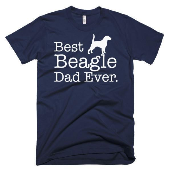 Men's Best Beagle Dad Ever Dog Lover Gift TShirt-T-Shirt-BelDisegno-Navy-S-Men-BelDisegno