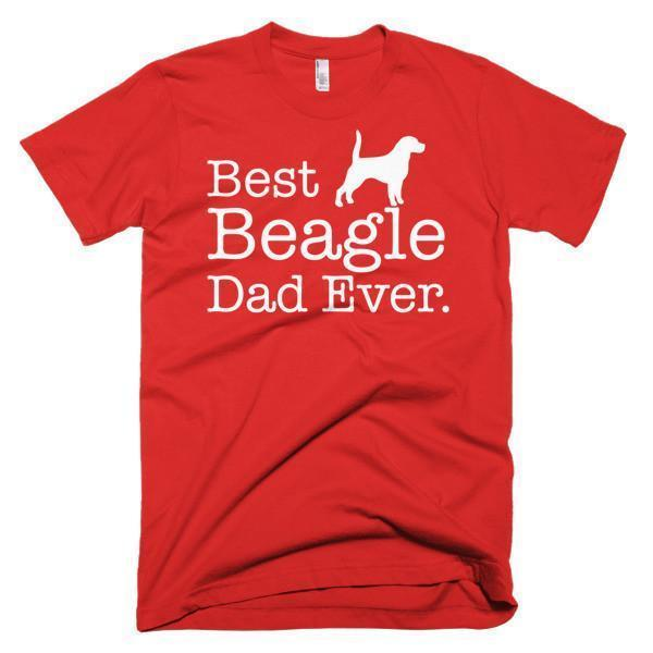 Men's Best Beagle Dad Ever Dog Lover Gift TShirt-T-Shirt-BelDisegno-Red-S-Men-BelDisegno