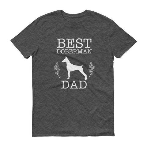 Men's Best Doberman Dad tshirt Dog Lovers gifts-T-Shirt-BelDisegno-Heather Dark Grey-S-BelDisegno