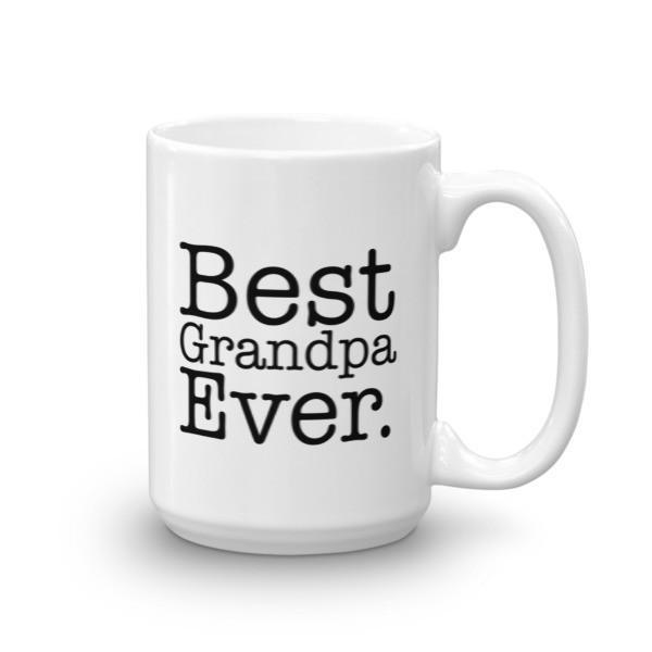 Men's Best Grandpa Ever dad gift Coffee Mug-Mug-BelDisegno-15oz-BelDisegno