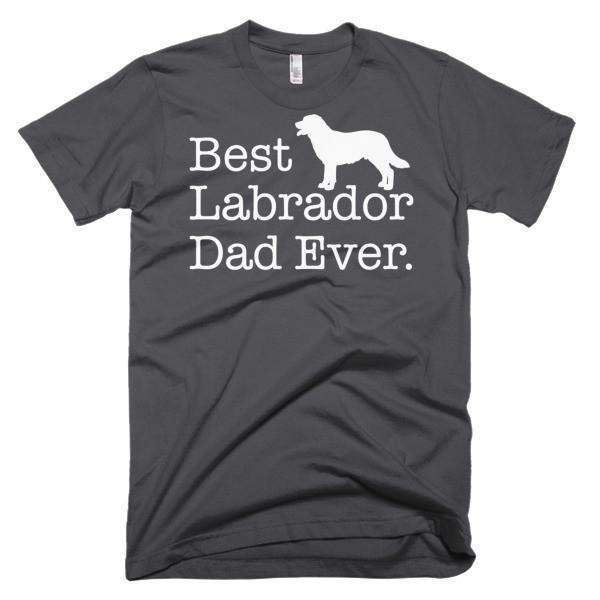 Men's Best Labrador Dad Ever Dog Lover Gift TShirt-T-Shirt-BelDisegno-Asphalt-S-Men-BelDisegno