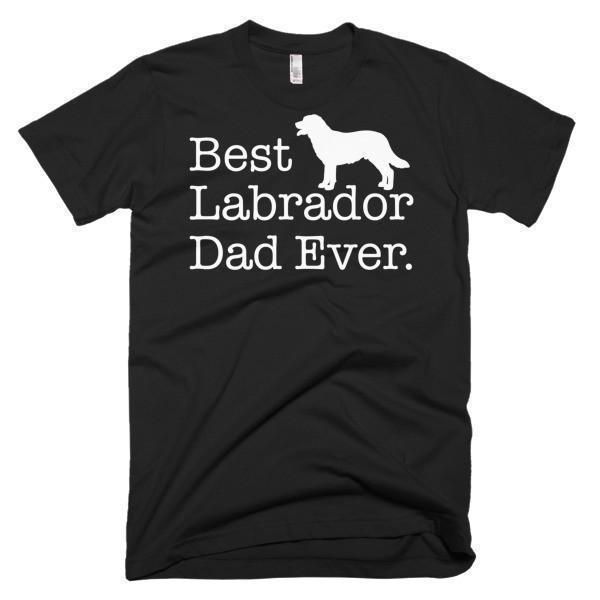 Men's Best Labrador Dad Ever Dog Lover Gift TShirt-T-Shirt-BelDisegno-Black-S-Men-BelDisegno
