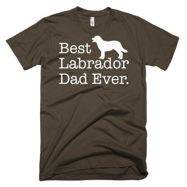 Men's Best Labrador Dad Ever Dog Lover Gift TShirt-T-Shirt-BelDisegno-Brown-S-Men-BelDisegno