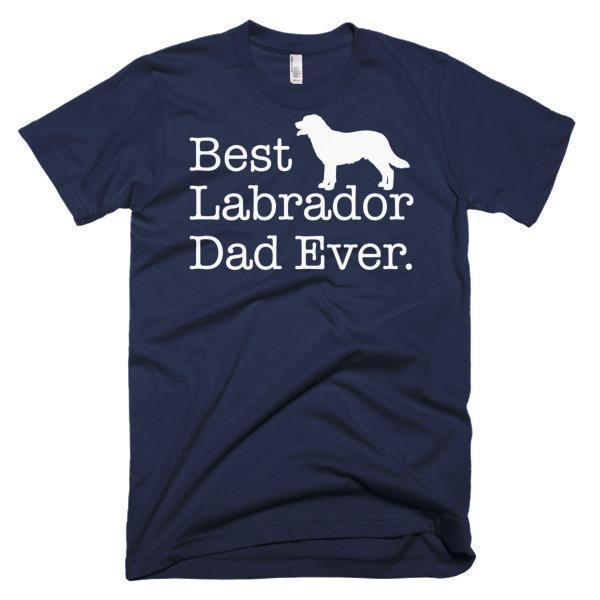 Men's Best Labrador Dad Ever Dog Lover Gift TShirt-T-Shirt-BelDisegno-Navy-S-Men-BelDisegno