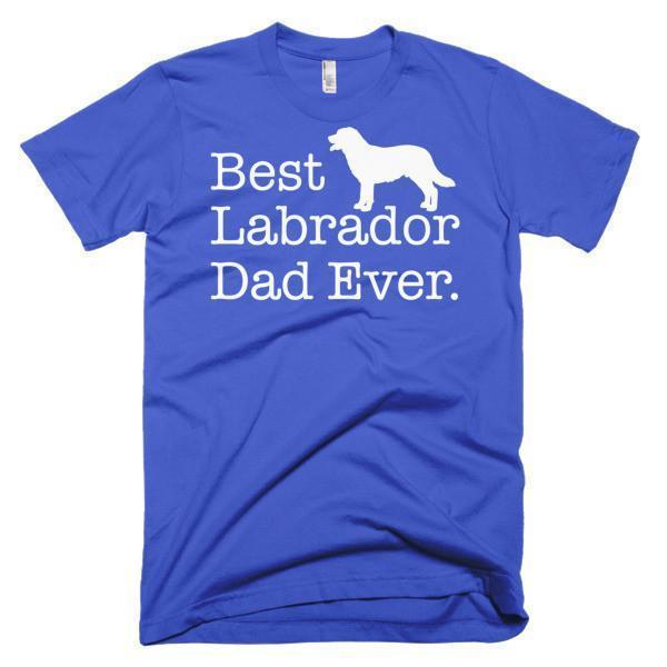 Men's Best Labrador Dad Ever Dog Lover Gift TShirt-T-Shirt-BelDisegno-Royal Blue-S-Men-BelDisegno
