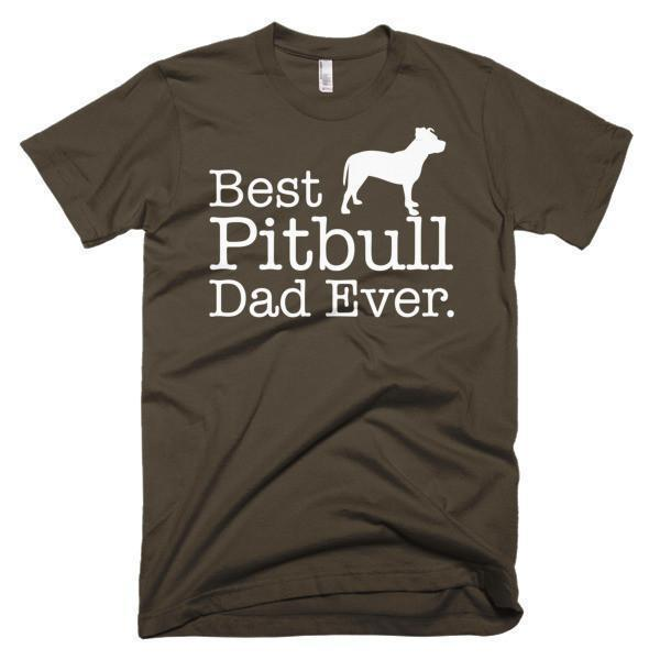 Men's Best Pitbull Dad Ever Dog Lover Gift T-shirt Brown / 3XL / Men T-Shirt BelDisegno