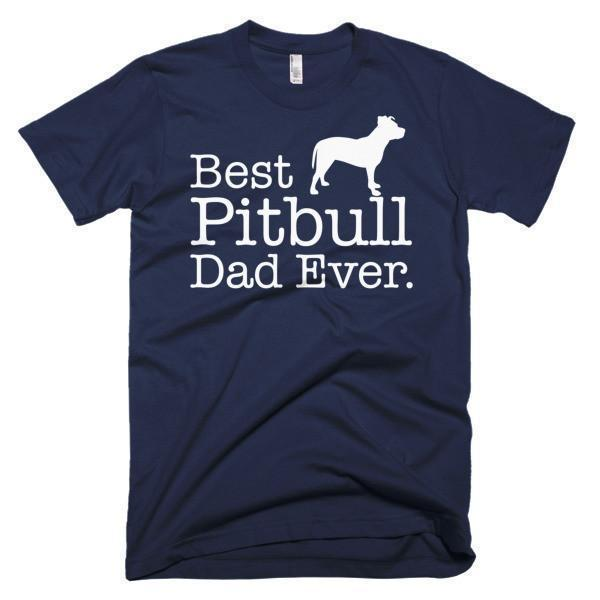 Men's Best Pitbull Dad Ever Dog Lover Gift T-shirt Navy / 3XL / Men T-Shirt BelDisegno