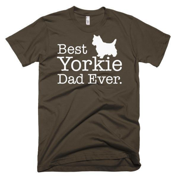 Best Yorkie Dad Ever Dog Lover T-shirt Color: Black, Asphalt, NavySize: S, M, L, XL, 2XL, 3XL