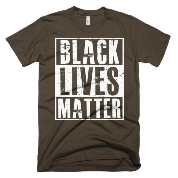 Men's Black Lives Matter T-shirt Brown / 3XL / Men T-Shirt BelDisegno