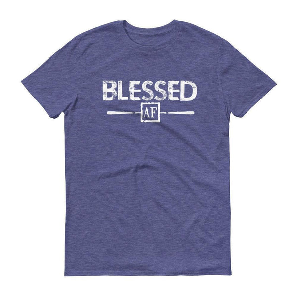 Men's Blessed AF tshirt Heather Blue / 3XL T-Shirt BelDisegno