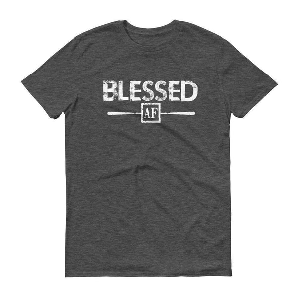 Men's Blessed AF tshirt Heather Dark Grey / 3XL T-Shirt BelDisegno