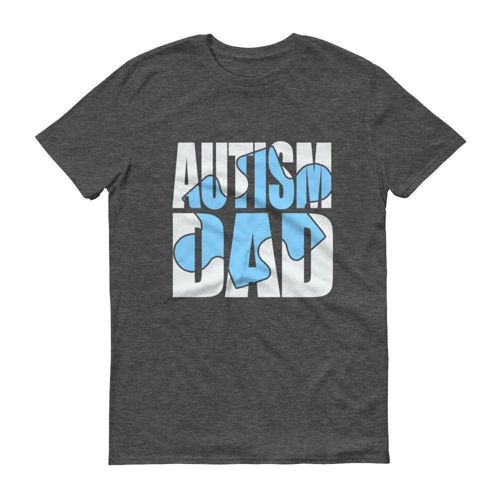 Blue Puzzle Autism Dad Autism Awareness Day month Gift for father of autistic Child T-shirt