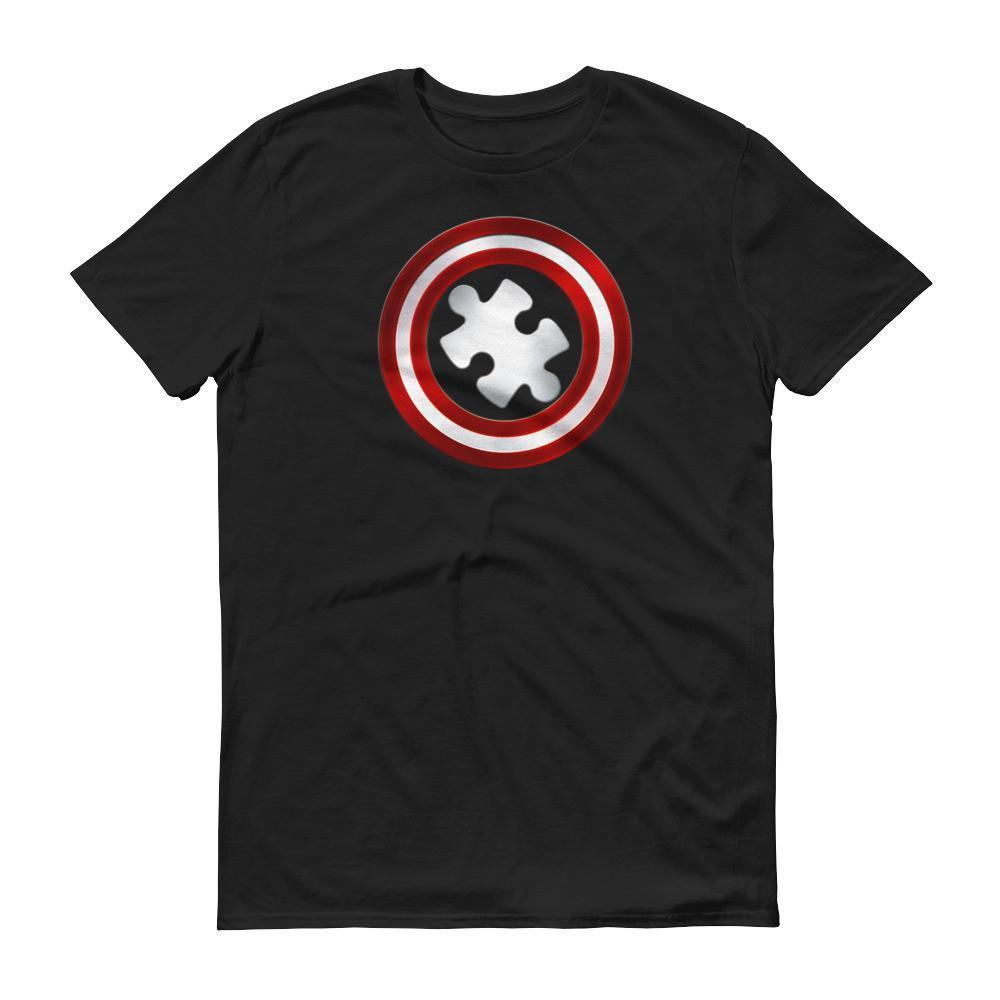 Men's Captain Autism Superhero Autism Awareness Product T-shirt Black / 3XL / Men T-Shirt BelDisegno